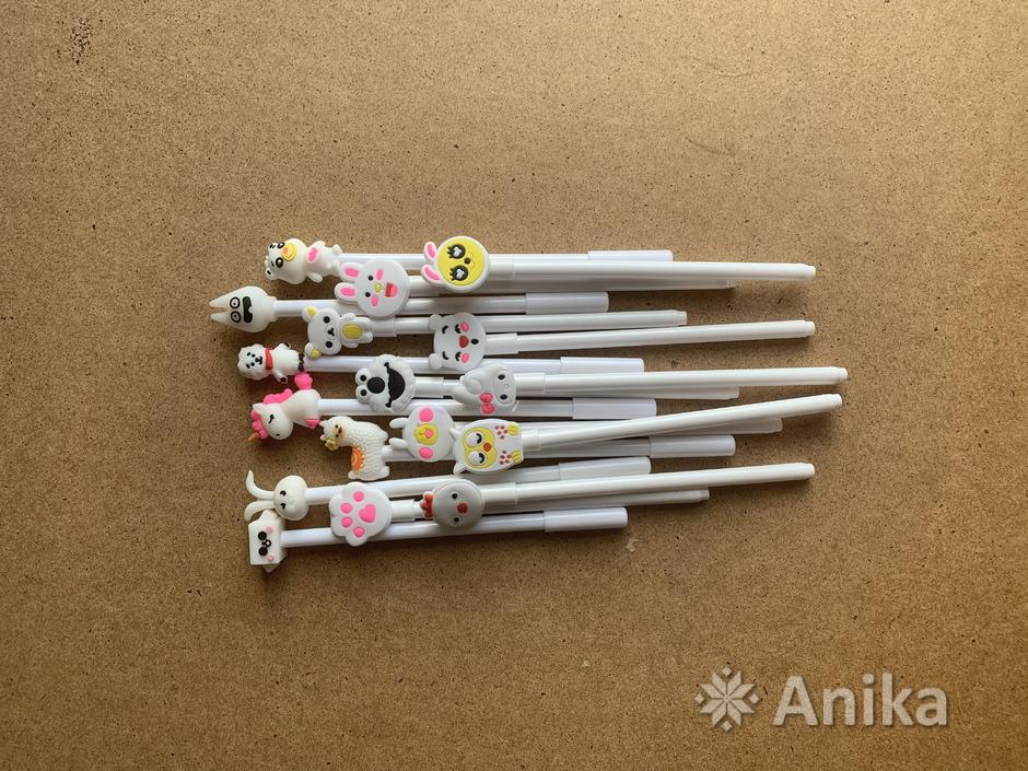 Ручка гелевая чёрная красивая белая - 1