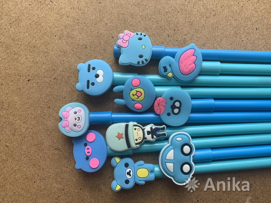 Ручки чёрные гелевые - 2