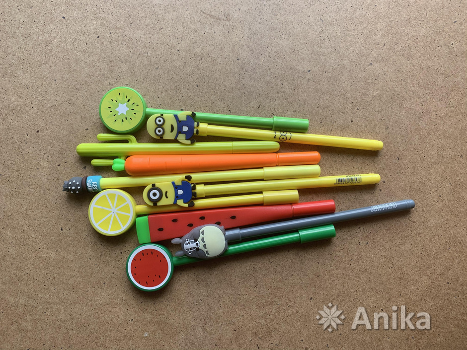 Красивые чёрные гелевые ручки - 2
