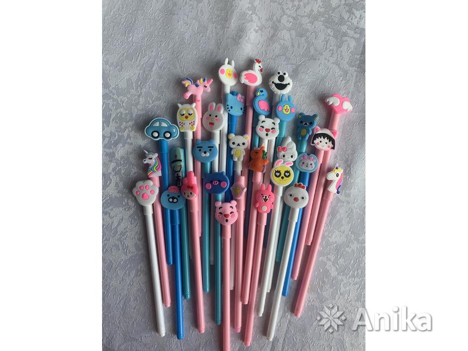 Ручки чёрные гелевые дешево - 3