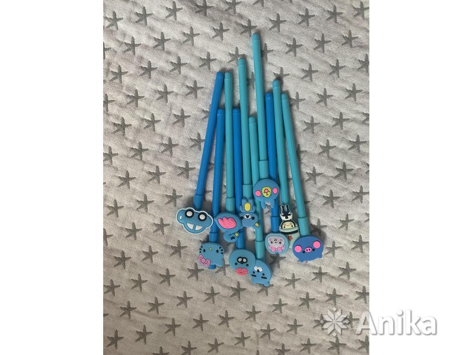 Ручки чёрные гелевые дешево - 4