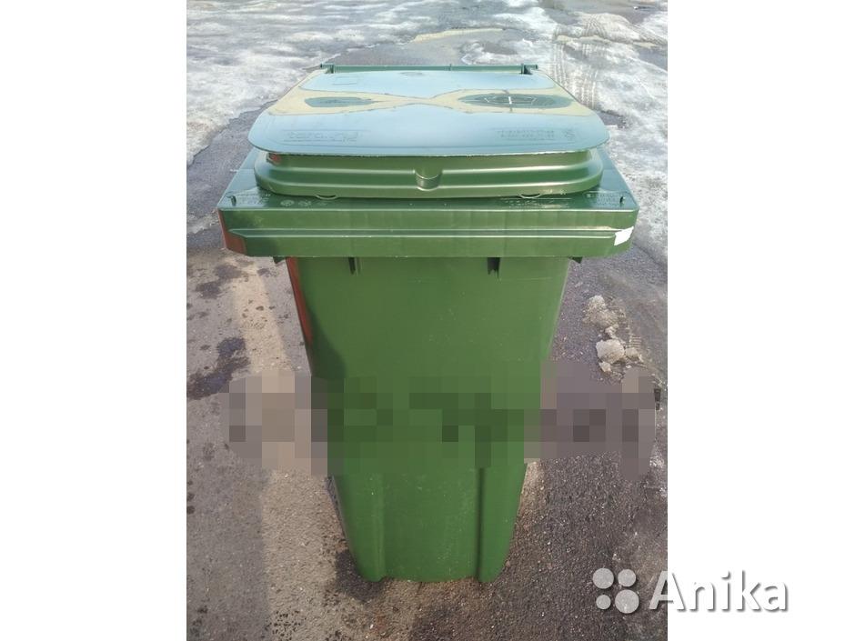 Мусорный контейнер на 120 литров зеленый - 1