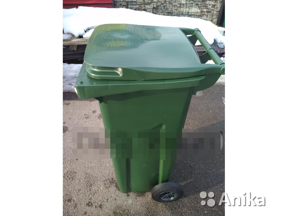 Мусорный контейнер на 120 литров зеленый - 2