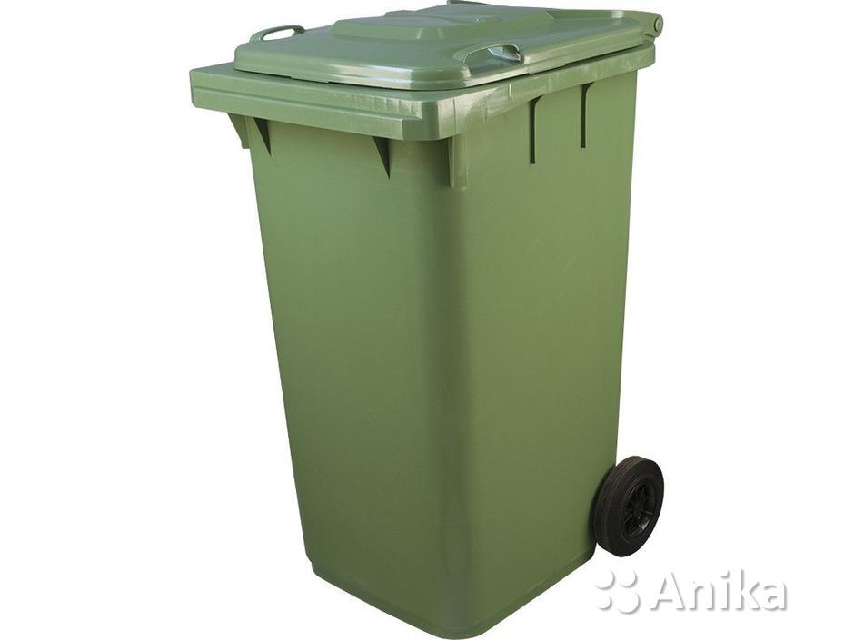 Мусорный контейнер 240 литров зеленого цвета - 1