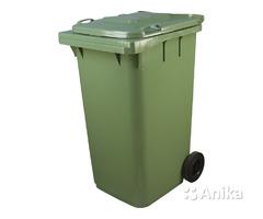 Мусорный контейнер 240 литров зеленого цвета