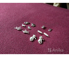 Сережки цепочки серебряные 925