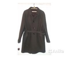 Пальто мужское коричневое из 60х г, б.у, р 50-52