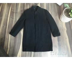 Шерстяное пальто утепленное