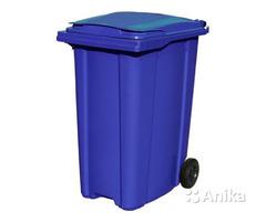 Мусорный контейнер на колесах на 360 л. синий