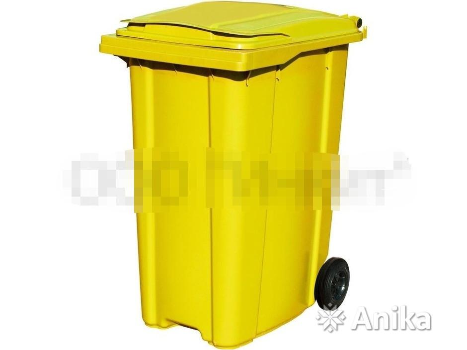 Контейнер мусорный ESE 360 л. желтый - 1
