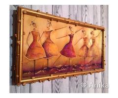 Картина на ткани в технике батик