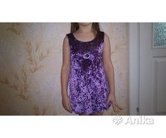 Платье нарядное велюровое