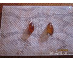 Серьги с янтарем