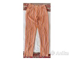 Брючки летние оранжевые и серые,  р.44-46, 2шт