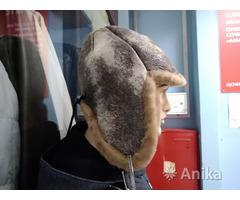 Шапка зимняя мужская кожа на меху made in Sweden