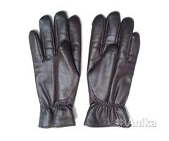 Перчатки мужские made in USSR, коричневая кожа